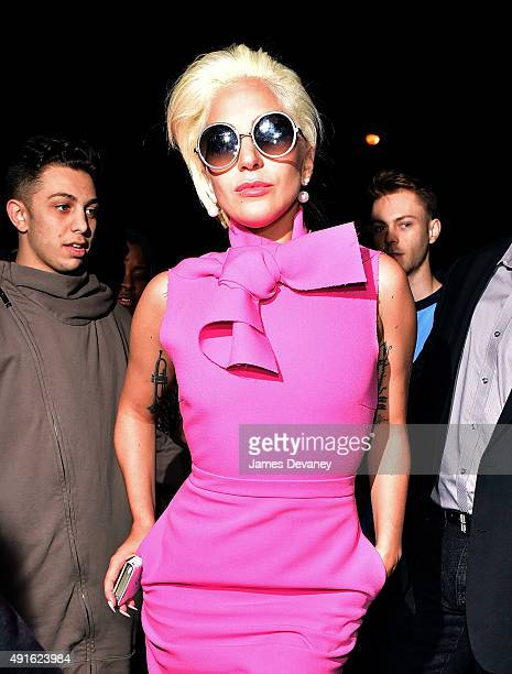 Lady Gaga seen on the streets of Manhattan on October 6 2015 in New York City