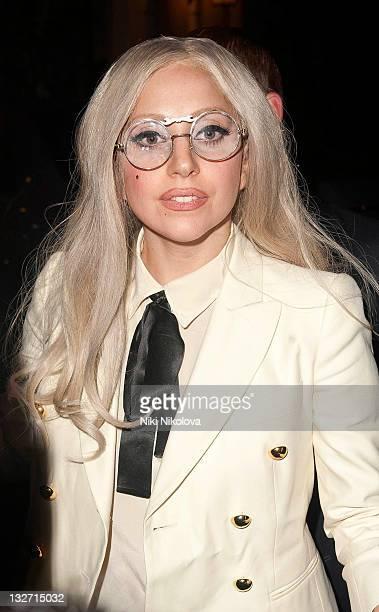Lady Gaga sighting on November 13 2011 in London England