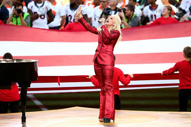 Lady Gaga Sings The National Anthem At Super Bowl 50 ...