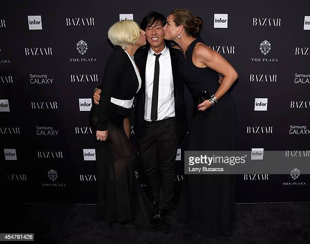 Lady Gaga Stephen Gan and Brooke Shields attend Moet Chandon and Belvedere Vodka Toast to Harper's Bazaar Icons at The Plaza Hotel on September 5...