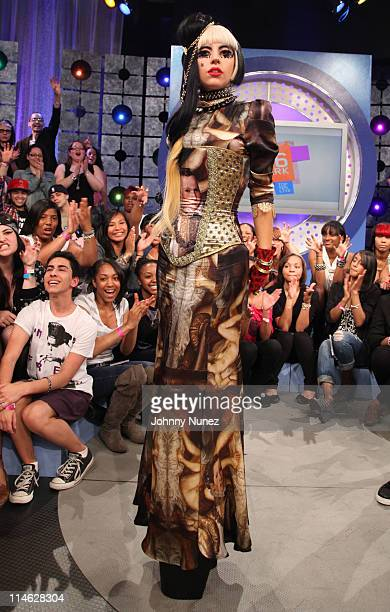 Lady Gaga visits BET's 106 Park at BET Studios on May 24 2011 in New York City