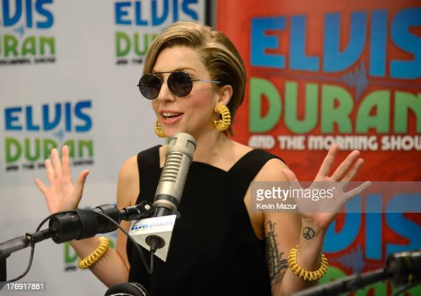 Lady Gaga visits Elvis Duran and the Z100 Morning Show at Z100 Studio on August 19 2013 in New York City