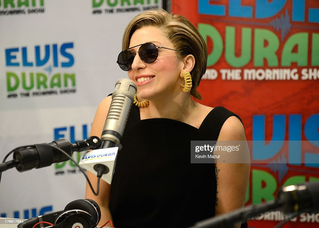 Lady Gaga visits 'Elvis Duran and the Z100 Morning Show' at Z100 Studio on August 19, 2013 in New York City.