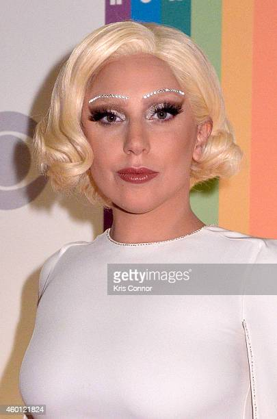 Lady Gaga walks the red carpet during the 27th Annual Kennedy Center Honors at John F Kennedy Center for the Performing Arts on December 7 2014 in...
