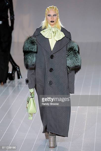 Lady Gaga walks the runway at the Marc Jacobs Fall 2016 show during New York Fashion Week at The Park Avenue Armory at 643 Park Avenue on February...