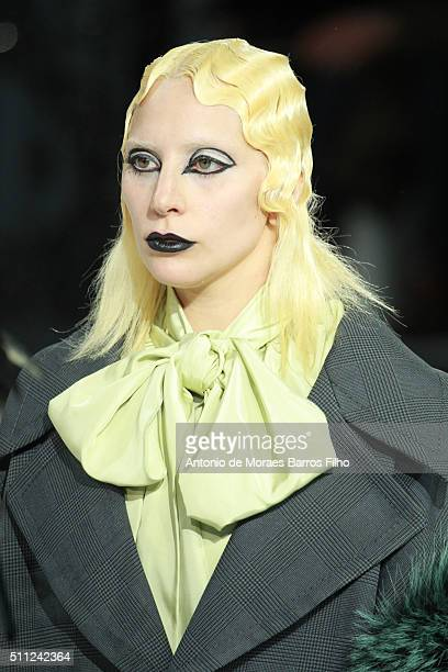 Lady Gaga walks the runway during the Marc Jacobs show as a part of Fall 2016 New York Fashion Week at on February 18 2016 in New York City