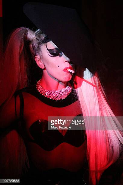 Lady Gaga walks the runway during the Thierry Mugler Ready to Wear Autumn/Winter 2011/2012 show during Paris Fashion Week at Gymnase Japy on March 2,...