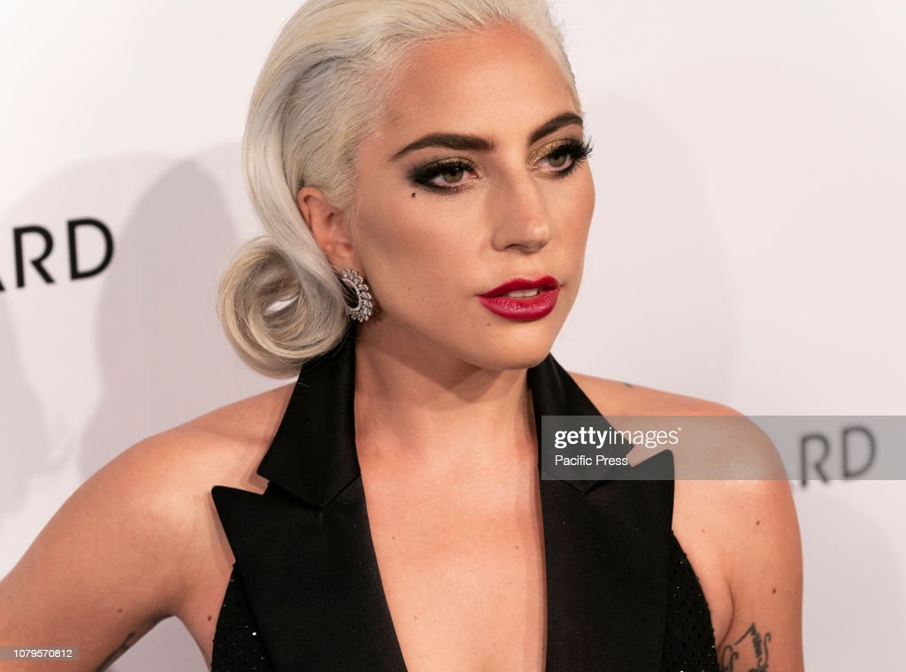 Lady Gaga wearing dress by Ralph Lauren Collective attends... : News Photo