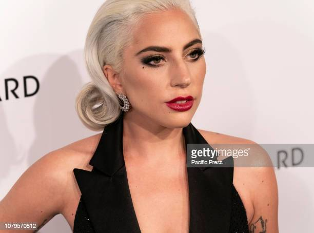 Lady Gaga wearing dress by Ralph Lauren Collective attends National Board of Review 2019 Gala at Cipriani 42nd street.