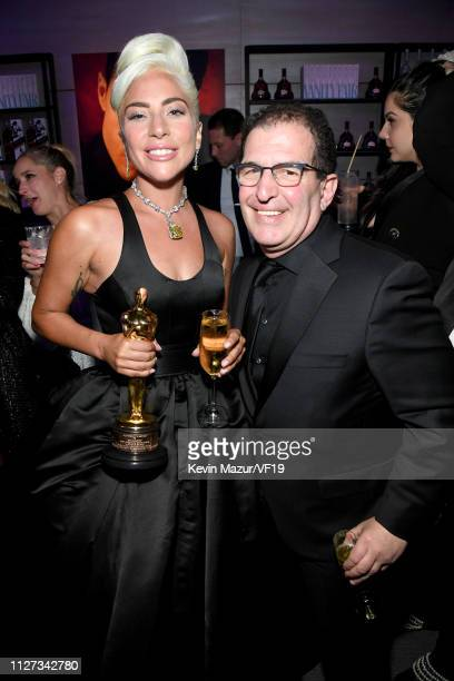 Lady Gaga winner Best Music award for 'Shallow' from 'A Star Is Born' and guest attend the 2019 Vanity Fair Oscar Party hosted by Radhika Jones at...