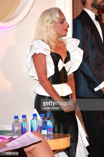 Lady Gaga with FIJI Water at the 5th Annual Fashion Los Angeles Awards on March 17 2019 in Los Angeles California