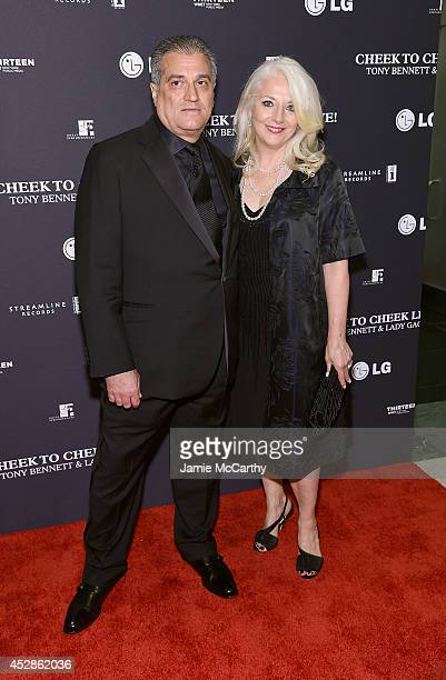 Lady Gaga's parents Joe Germanotta and Cynthia Germanotta arrive to their 'Cheek To Cheek' taping at at Jazz at Lincoln Center on July 28 2014 in New...