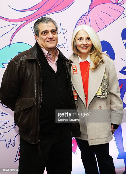 Lady Gaga's parents Joe Germanotta and Cynthia Germanotta attend Lady Gaga's Born Brave Bus Tour at Times Square on March 23 2013 in New York City