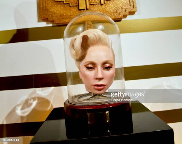 Lady Gaga's prop head from 'American Horror Story' at The Paley Center for Media Celebration of 'American Horror Story The Style Of Scare' at The...