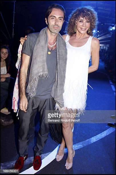 Lady Giannina Faccio the wife of Sir Ridley Scott and Giambattista Valli at John Galliano Men Spring Summer 2009 Fashion Show