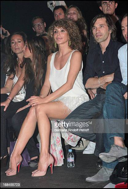 Lady Giannina Faccio the wife of Sir Ridley Scott and Olivier Martinez at John Galliano Men Spring Summer 2009 Fashion Show