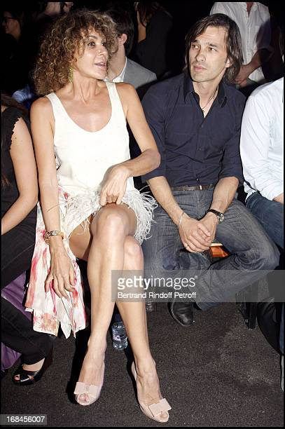 Lady Giannina Faccio the wife of Sir Ridley Scott Olivier Martinez at John Galliano Men Spring Summer 2009 Fashion Show