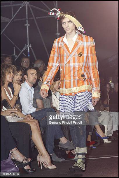 Lady Giannina Faccio the wife of Sir Ridley Scott Olivier Martinez Alexis Roche at John Galliano Men Spring Summer 2009 Fashion Show