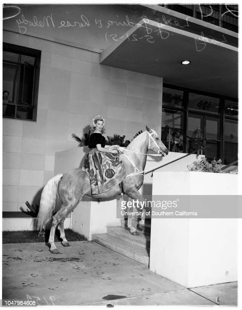 Lady Godiva and horse stunt May 21 1951 'Lady Godiva'Horse 'Melody Lady'More descriptive information with originals