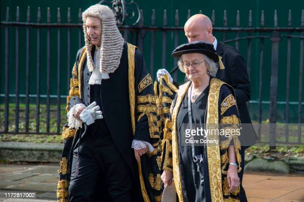 Lady Hale, President of the Supreme Court walks to the Palace of Westminster following the annual Judges Service which marks the start of the new...