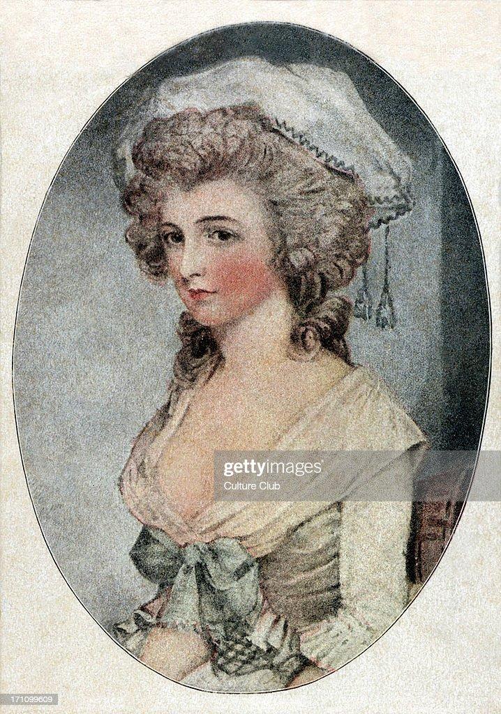 Lady Hamilton / Emma Hamilton / Emma Lyon - Hart - portrait of the mistress of Lord Horatio Nelson. : News Photo