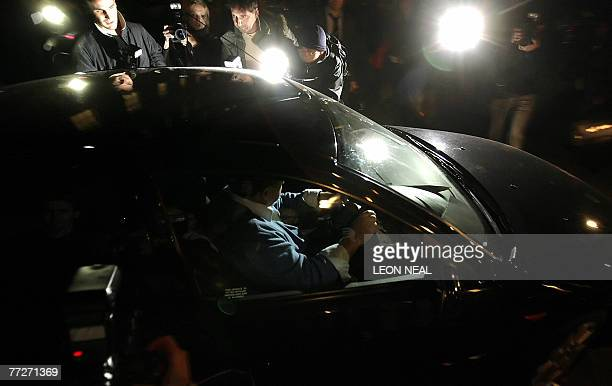 Lady Heather Mills McCartney's car leaves the Family Arbitration building of the High Court at 4249 High Holborn London as the divorce case between...
