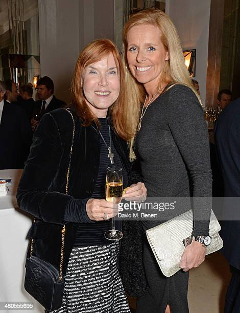 Lady Helen Stewart and Victoria Stewart attend a private dinner hosted by Spear's for The Mayo Clinic at Claridge's Hotel on March 25 2014 in London...