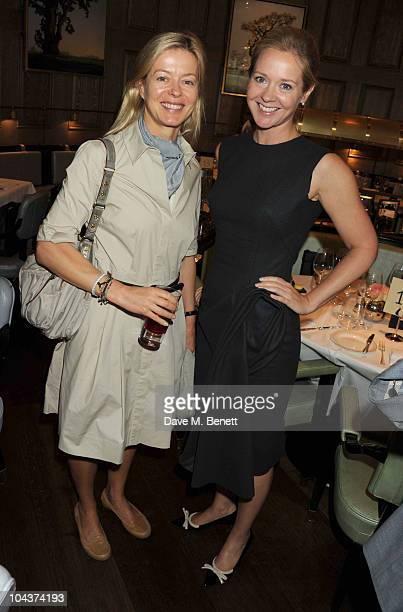 Lady Helen Taylor and Kate Reardon attend Kate Reardon's Great Girls lunch at the Landau in the Langham Hotel on 22 September 2010 in London, United...