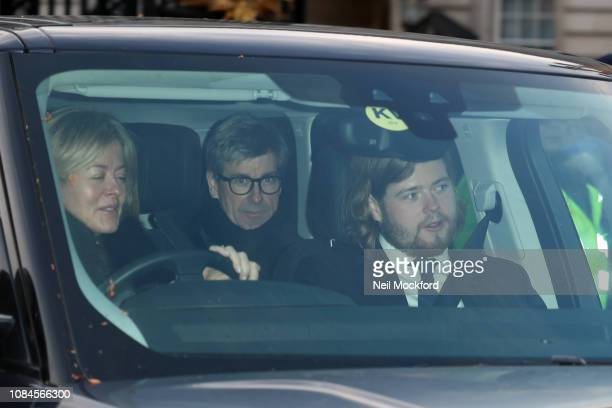 Lady Helen Taylor and Tim Taylor arrive at Buckingham Palace for the Queen's Christmas Lunch on December 19 2018 in London England