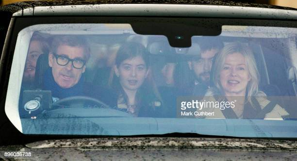 Lady Helen Taylor and Tim Taylor attend a Christmas lunch for the extended Royal Family at Buckingham Palace on December 20 2017 in London England