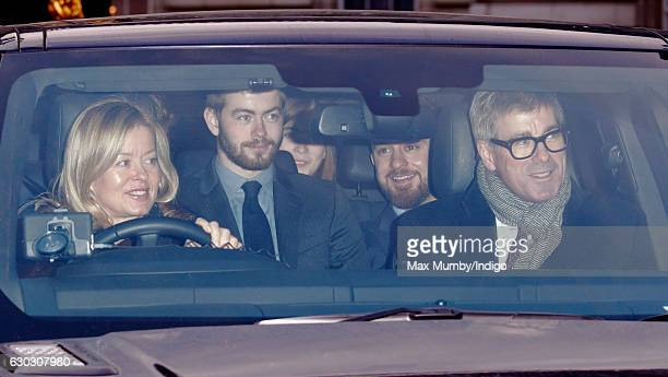 Lady Helen Taylor and Timothy Taylor attend a Christmas lunch for members of the Royal Family hosted by Queen Elizabeth II at Buckingham Palace on...
