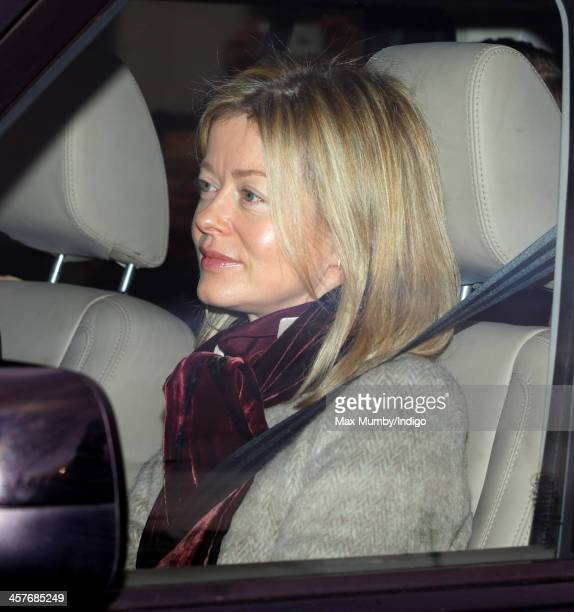 Lady Helen Taylor arrives at Buckingham Palace to attend a Christmas Lunch hosted by Queen Elizabeth II on December 18 2013 in London England