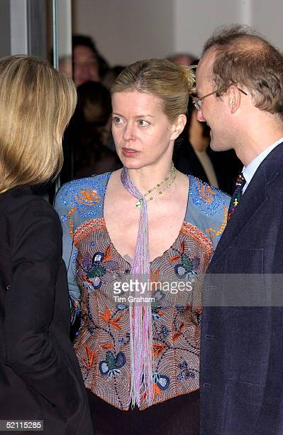 Lady Helen Taylor At The Launch Of Her Husband's New Art Gallery The Timothy Taylor Gallery In Derring Street She Is With Her Brother Lord Nicholas...