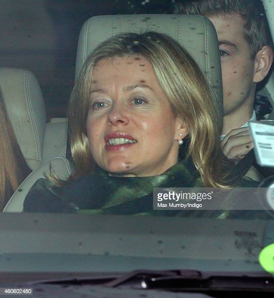 Lady Helen Taylor attends a Christmas lunch for members of the Royal Family hosted by Queen Elizabeth II at Buckingham Palace on December 17 2014 in...