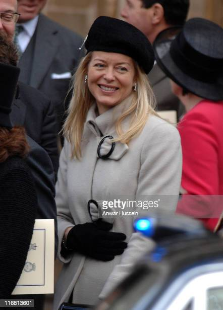 Lady Helen Taylor attends a service of celebration for the Diamond Wedding Anniversary of The Queen and Prince Philip at Westminster Abbey on...