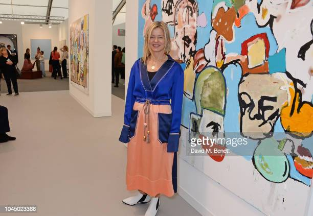 Lady Helen Taylor attends a VIP Preview of the Frieze Art Fair in Regents Park on October 3 2018 in London England