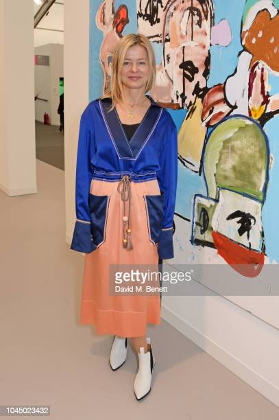 Lady Helen Taylor attends a VIP Preview of the Frieze Art Fair in Regents Park on October 3, 2018 in London, England.