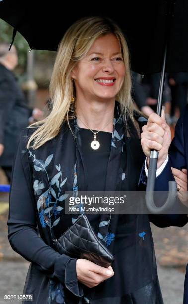 Lady Helen Taylor attends the funeral of Patricia Knatchbull Countess Mountbatten of Burma at St Paul's Church Knightsbridge on June 27 2017 in...