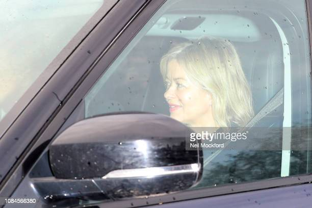 Lady Helen Taylor departs Buckingham Palace after the Queen's Christmas Lunch on December 19 2018 in London England