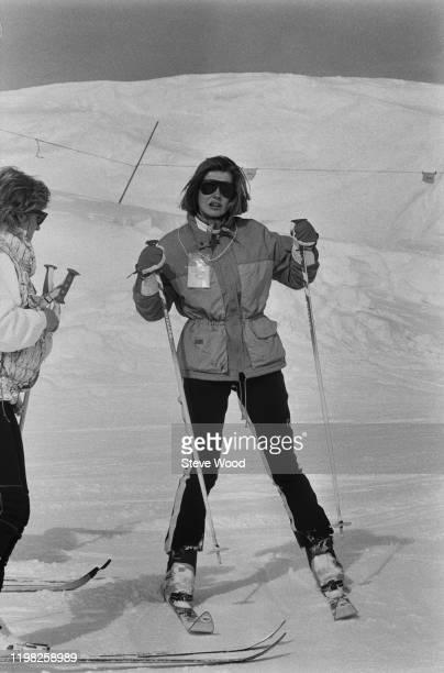 Lady Helen Taylor on a ski slope, UK, 26th February 1985.