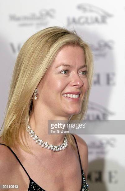 023a5a3fb7d Versace Donatella Portrait. Lady Helen Taylor Smiling At A Fashion Show And  Gala At Waddesdon Manor In Buckinghamshire In