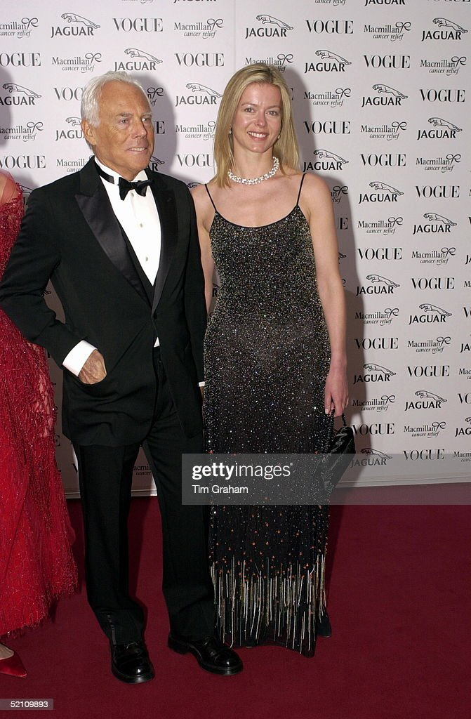 Helen Taylor And Giorgio Armani : News Photo