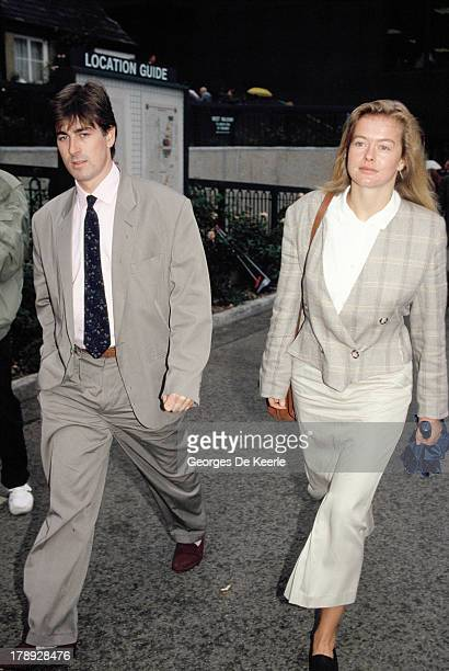 Lady Helen Windsor and her boyfriend Tim Taylor at Wimbledon on July 9 1989 in London England