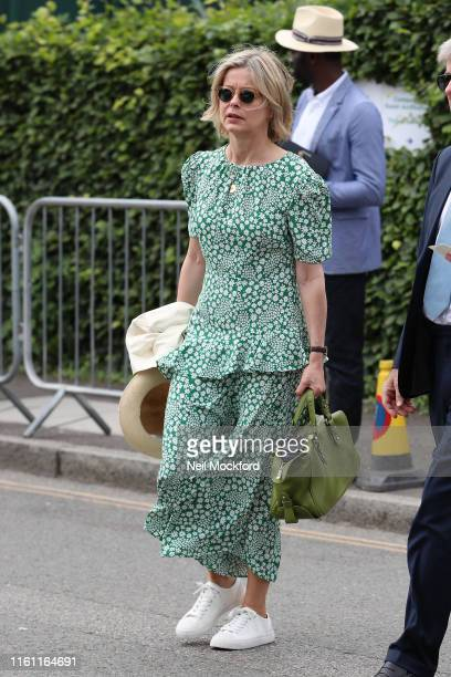 Lady Helen Windsor attends day 9 of the Wimbledon 2019 Tennis Championships at All England Lawn Tennis and Croquet Club on July 10 2019 in London...