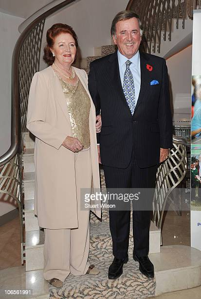 Lady Helen Wogan and Sir Terry Wogan attend a tribute lunch for Sir Terry Wogan at the Dorchester Hotel on November 5 2010 in London England