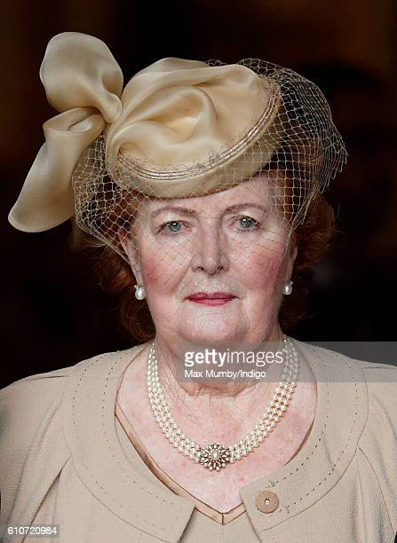 Lady Helen Wogan attends a memorial service for her late husband Sir Terry Wogan at Westminster Abbey on September 27 2016 in London England Radio...