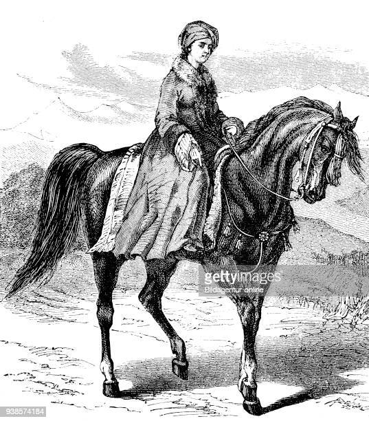 Lady Hester Lucy Stanhope 12 March 1776 23 June 1839 was a British socialite adventurer and traveler reproduction of a woodcut from the year 1880...