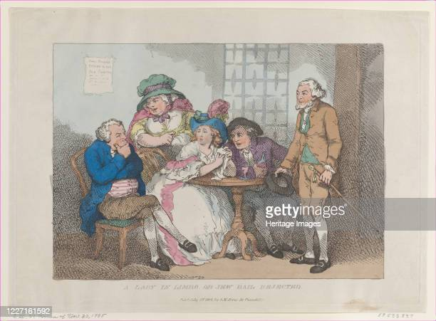 A Lady in Limbo or Jew Bail Rejected [November 30 1785] reissued July 1 1802 Artist Thomas Rowlandson