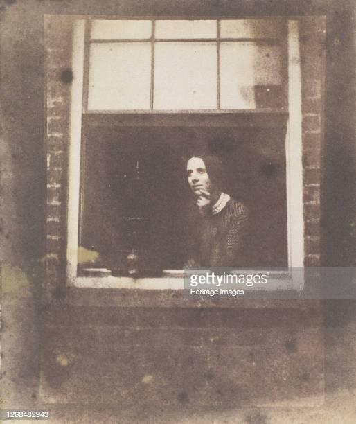 Lady in Open Window with Bird Cage, late 1840s. Artist Calvert Jones.