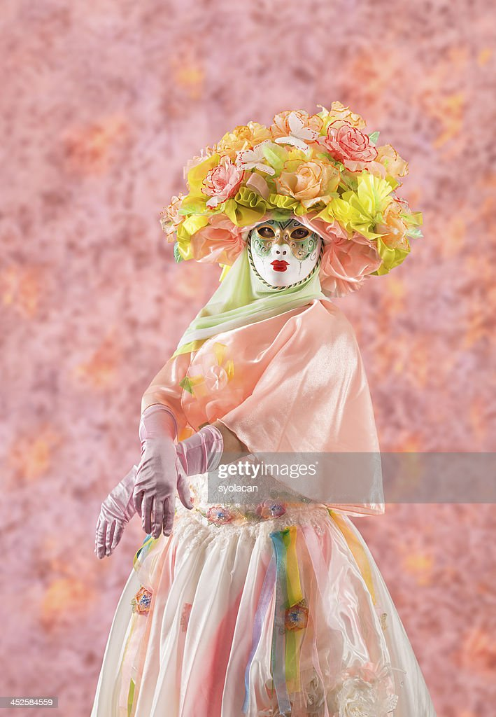 Lady in pink : Stockfoto